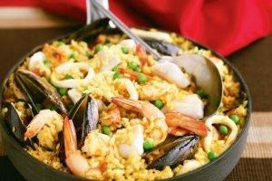 Emersons seafood paella