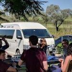 wine tasting in the vineyard